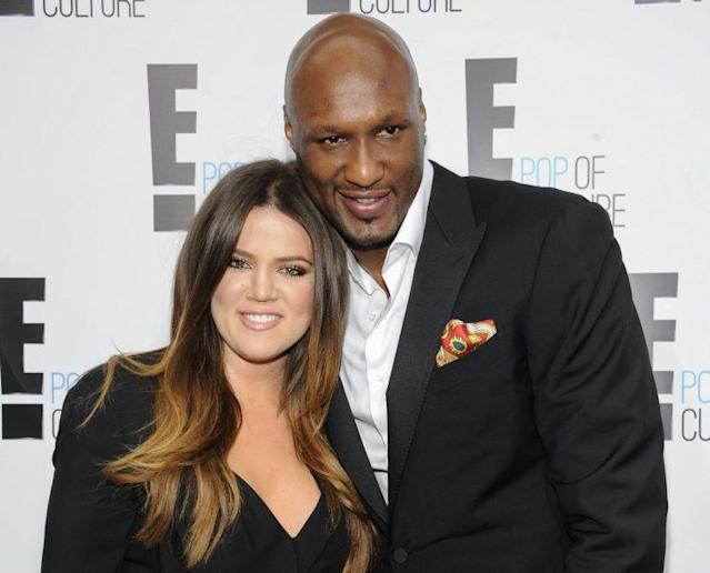 Khloé Kardashian and Lamar Odom at an E! Network event in New York in 2012. (Photo: AP Photo/Evan Agostini)