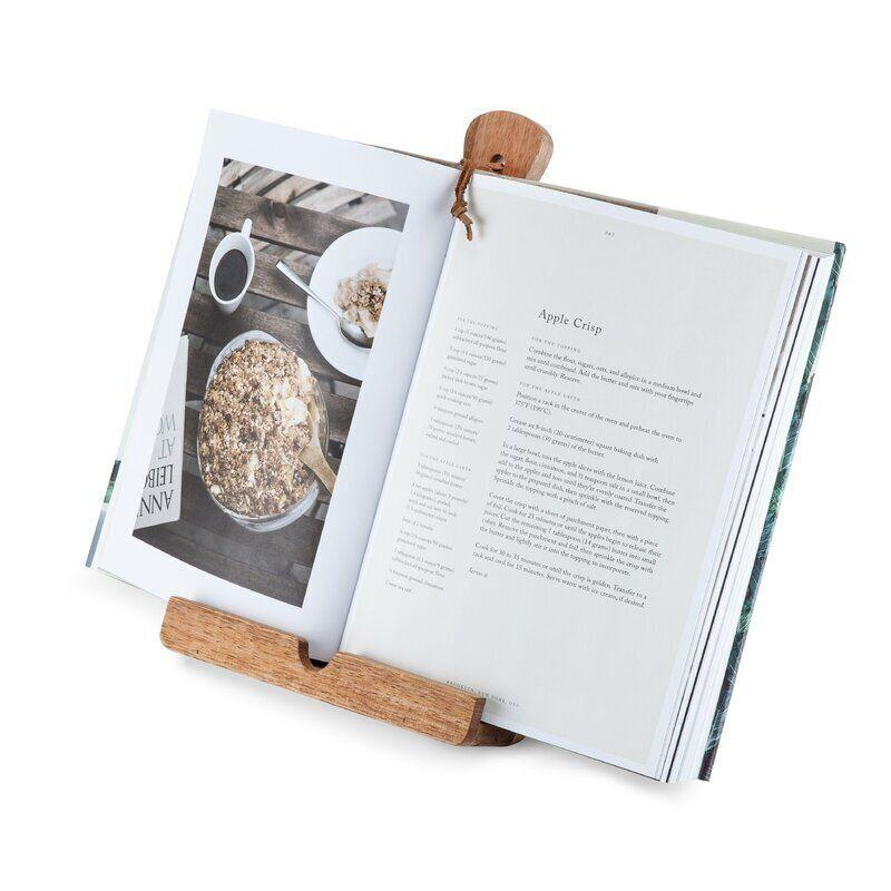 """To bake an apple pie from scratch or to get that gravy just right, you can get this cooking stand that can hold a cookbook or a tablet so you don't have to touch the page or screen with flour on your hands. <a href=""""https://fave.co/35gxmSS"""" target=""""_blank"""" rel=""""noopener noreferrer"""">Find it for $43 at Wayfair</a>."""