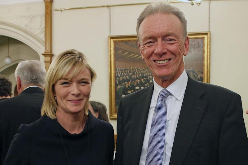 Expert panel: Julie Etchingham with former Met chief Sir Bernard Hogan Howe (Nigel Howard)
