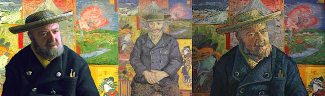 """John Sessions as Père Tanguy.""""Julien Tanguy, affectionately nick-named Père Tanguy, ran a paint supply shop in Paris, and Vincent van Gogh was one of his frequent customers and a loyal friend,"""" a description on the website for """"Loving Vincent"""" reads. """"Père Tanguy was a passionate supporter of the 'new painters' including the impressionists, exhibiting them and often accepting payment for supplies in paintings. In Loving Vincent, Tanguy's shop isArmand Roulin's first stop on his journey to discover the truth about van Gogh."""" (BreakThru Films and Good Deed Entertainment)"""