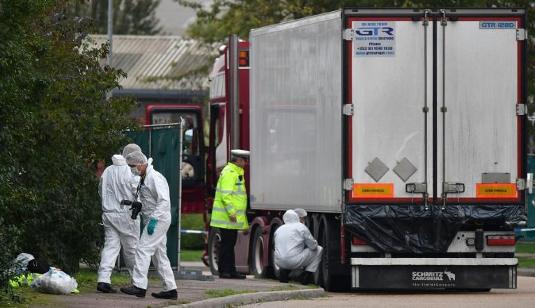 Two Vietnamese families have said they fear their relatives are among those found dead in a truck in the UK (AFP Photo/Ben STANSALL)