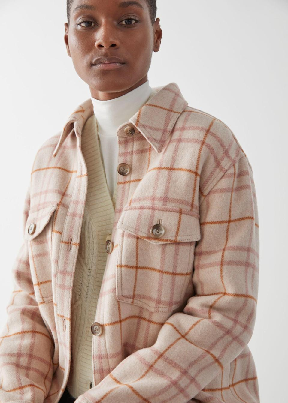 <p>This <span>&amp; Other Stories Oversized Shirt Jacket</span> ($219) is both comfortable and cute.</p>