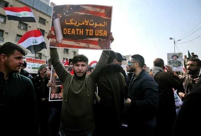 Many supporters of the Hashed al-Shaabi are unashamedly pro-Iran and hostile to the United States (AFP Photo/AHMAD AL-RUBAYE)