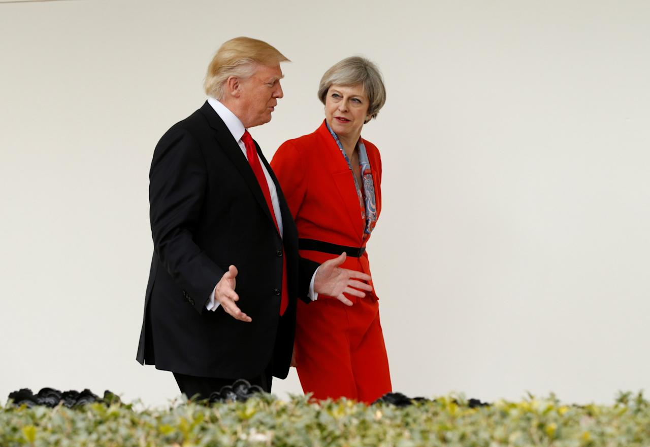 "<p>Theresa May's sartorial choices have proved <a rel=""nofollow"" href=""https://uk.style.yahoo.com/theresa-may-wore-controversial-red-suit-election-night-081948569.html"">somewhat controversial</a> since her move into No.10 last year, so perhaps it's understandable that she may be in the market for a few additions to her wardrobe. The Prime Minister's only entry on the updated list of gifts is a discount card from high-end footwear and handbag retailer Russel & Bromley. (Reuters/Kevin Lamarque) </p>"