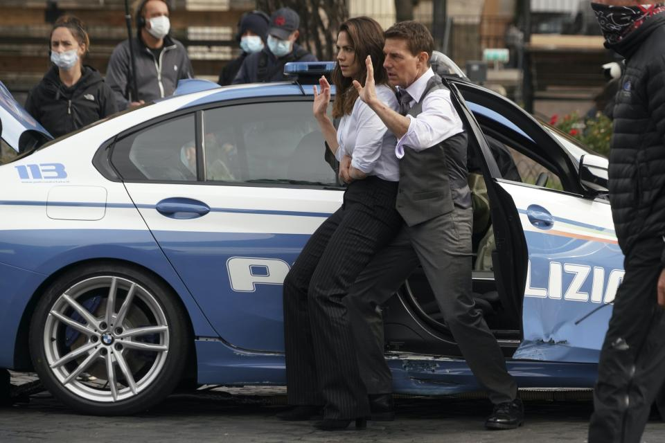 Tom Cruise and Hayley Atwell (Andrew Medichini/AP)