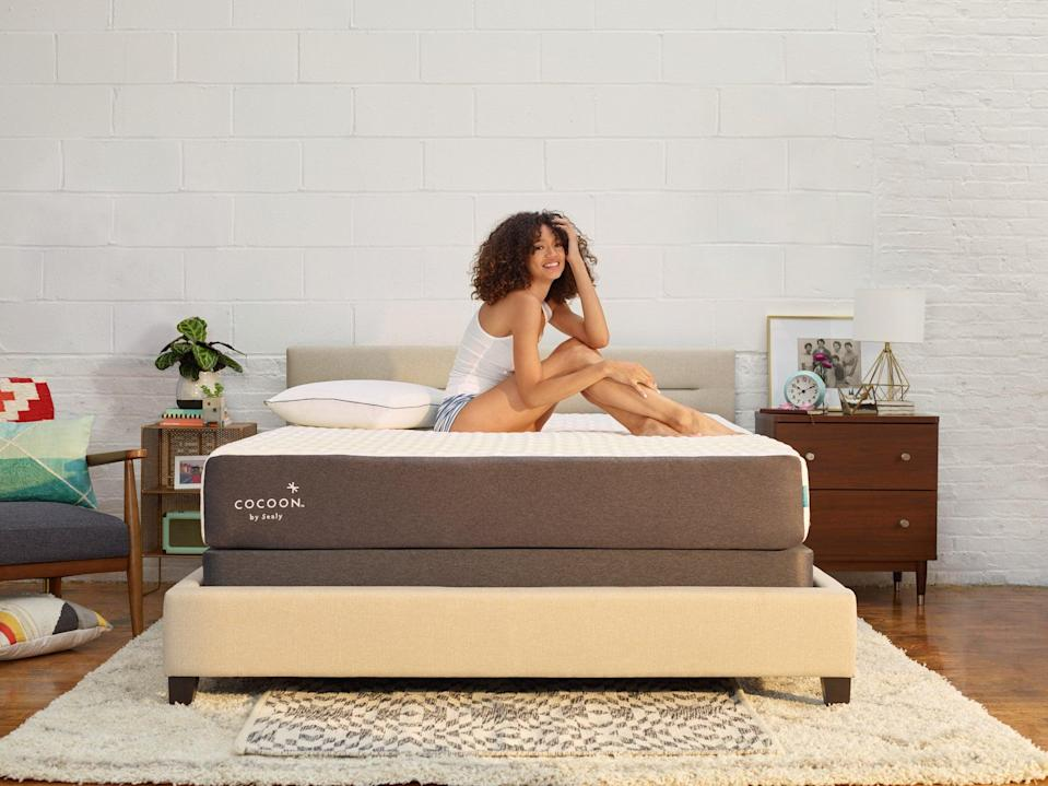 "<h2>Cocoon By Sealy</h2><br><h3>Best Mattress Deals</h3><br><strong>Sale</strong>: Save 35% + free pillows and sheets on the Chill Mattress<br><strong>Dates</strong>: Now - April 11<br><br>Everyone is literally sleeping on Cocoon by Sealy mattresses — in a good way. Right now, the bestselling and top-rate Chill Mattress is up 35% off and is packaged with bedding to boot. Cool sleepers say: <br><br>""I was unsure how to go about choosing a mattress online and I read so many different blogs and reviews and landed on this one because of the chill feature and many good reviews. I live in Hawaii so I wanted something that was medium soft that wouldn't be too hot — Cocoon delivered this spot on. I love how soft it is without making you sink too much and feel like your suffocating. I have a bad hip so it is always challenging to find a mattress that doesn't make me hurt after sleeping on my side. This mattress supports me with comfort and I can honestly say after 60-ish days I have never woken up with a sore hip, neck, or back! I love this mattress!""<br><br><em>Shop</em> <strong><em><a href=""https://www.cocoonbysealy.com/"" rel=""nofollow noopener"" target=""_blank"" data-ylk=""slk:Cocoon by Sealy"" class=""link rapid-noclick-resp"">Cocoon by Sealy</a></em></strong><br><br><strong>Cocoon</strong> Chill Mattress, $, available at <a href=""https://go.skimresources.com/?id=30283X879131&url=https%3A%2F%2Fwww.cocoonbysealy.com%2Fmattress%2Fchill%2Fv%2F126%2F"" rel=""nofollow noopener"" target=""_blank"" data-ylk=""slk:Sealy"" class=""link rapid-noclick-resp"">Sealy</a>"
