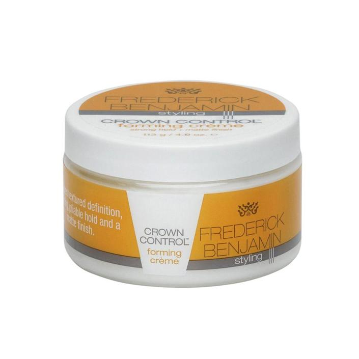 """<p>frederickbenjamin.com</p><p><strong>$16.00</strong></p><p><a href=""""https://shop.frederickbenjamin.com/collections/hair-care/products/crown-control-forming-creme"""" rel=""""nofollow noopener"""" target=""""_blank"""" data-ylk=""""slk:BUY IT HERE"""" class=""""link rapid-noclick-resp"""">BUY IT HERE</a></p><p>Dry, matte hold pastes aren't so great for curly hair, but this creamy paste is tailor-made for anyone with curly, coily or textured hair. It helps lock in curls and texture without making it crunchy like a gel and the creaminess delivers hydration to keep hair healthy.</p>"""