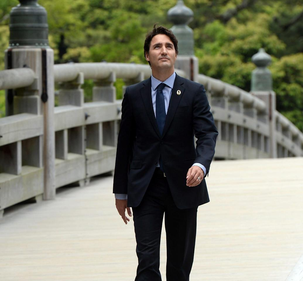 Justin Trudeau Prime Minister Of Canada Poses For A: PHOTOS: Justin Trudeau In Japan For G7 Summit