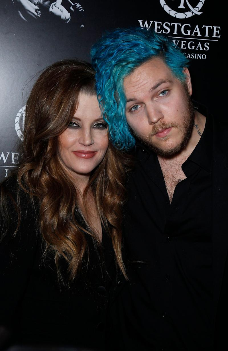 Lisa Marie Presley and Benjamin Keough at the red carpet of The Elvis Experience in 2015 (Photo: SIPA USA/PA Images)