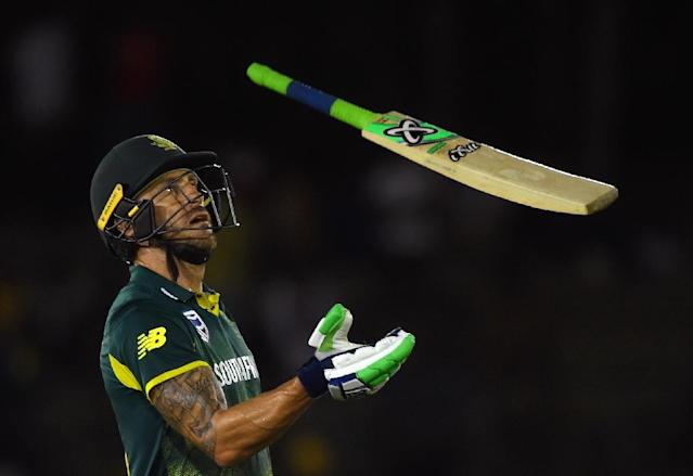 South Africa's captain Faf du Plessis (AFP Photo/ISHARA S. KODIKARA)