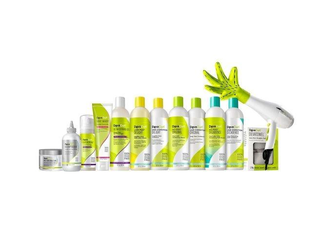 DevaCurl's product range includes cleansers, conditioners, styling products, styling accessories, and treatments