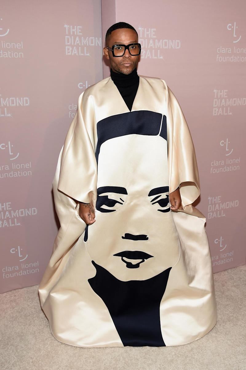 Law Roach wearing Schiaparelli (Getty Images)