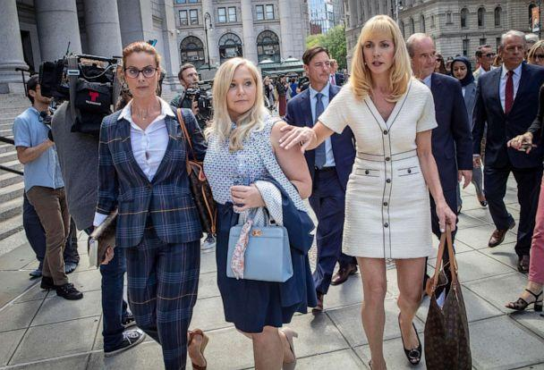 PHOTO: Sarah Ransome and Virginia Roberts Giuffre along with other victims who have accused Jeffrey Epstein with sexual abuse, appeared in Manhattan Federal Court. New York, NY August 27, 2019. (Kevin C. Downs/Redux)