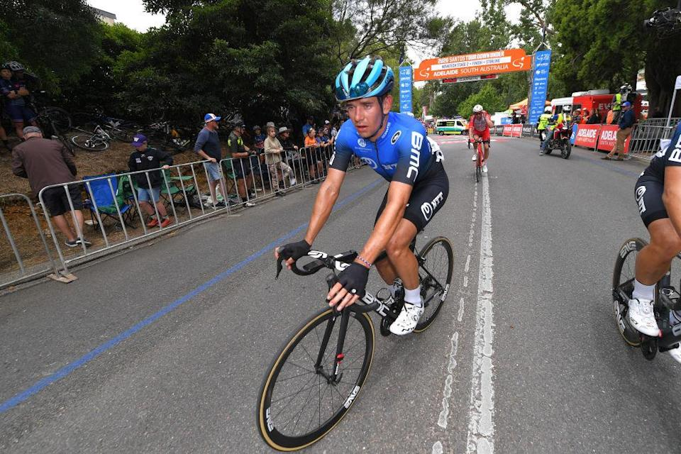 STIRLING AUSTRALIA  JANUARY 22 Arrival  Ryan Gibbons of South Africa Team NTT Pro Cycling  during the 22nd Santos Tour Down Under 2020 Stage 2 a 1355km stage from Woodside to Stirling 422m  TDU  tourdownunder  UCIWT  on January 22 2020 in Stirling Australia Photo by Tim de WaeleGetty Images