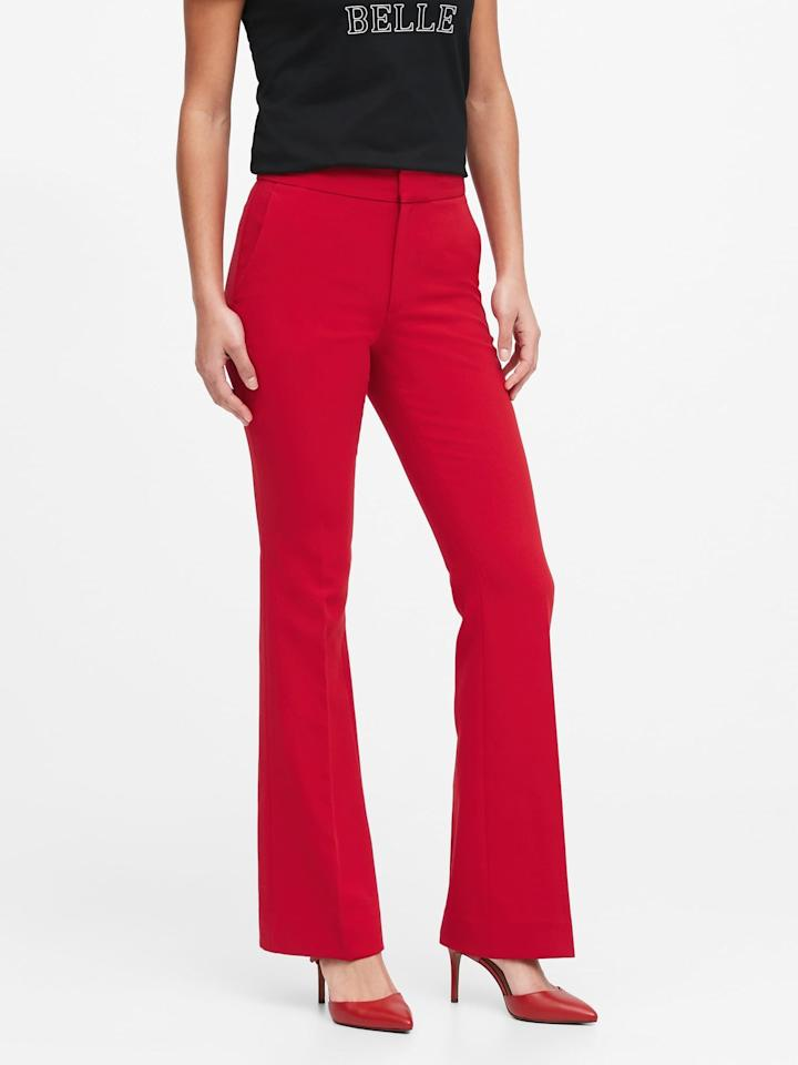 """<p>Complete the look with these <a href=""""https://www.popsugar.com/buy/High-Rise-Flare-Pants-542166?p_name=High-Rise%20Flare%20Pants&retailer=bananarepublic.gap.com&pid=542166&price=99&evar1=fab%3Auk&evar9=47131498&evar98=https%3A%2F%2Fwww.popsugar.com%2Ffashion%2Fphoto-gallery%2F47131498%2Fimage%2F47131585%2FHigh-Rise-Flare-Pants&list1=shopping%2Cbanana%20republic%2Ceditors%20pick%2Cwinter%20fashion&prop13=api&pdata=1"""" rel=""""nofollow"""" data-shoppable-link=""""1"""" target=""""_blank"""" class=""""ga-track"""" data-ga-category=""""Related"""" data-ga-label=""""https://bananarepublic.gap.com/browse/product.do?pid=518224022&amp;cid=1150455&amp;pcid=48422&amp;vid=1&amp;grid=pds_7_747_1#pdp-page-content"""" data-ga-action=""""In-Line Links"""">High-Rise Flare Pants</a> ($99).</p>"""