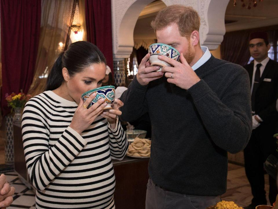 """<p>Meghan told <em><a href=""""https://www.delish.com/food/g21603082/meghan-markle-diet/"""" rel=""""nofollow noopener"""" target=""""_blank"""" data-ylk=""""slk:Delish"""" class=""""link rapid-noclick-resp"""">Delish</a></em> in 2018 that a friend convinced her to slow-cook zucchini for four to five hours, until it breaks down into a """"filthy, sexy mush"""" to toss with pasta. """"The sauce gets so creamy, you'd swear there's tons of butter and oil in it, but it's just zucchini, water and a little bouillon,"""" Meghan said.</p>"""