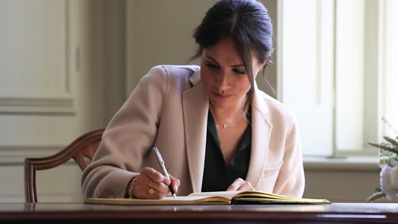 Neat handwriting shows Meghan 'expected' letter to be published, newspaper says