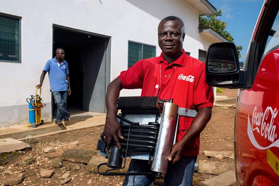 Coca-Cola Lead Cooler Technician in Ghana, Maxwell Ayisi (Project Last Mile)