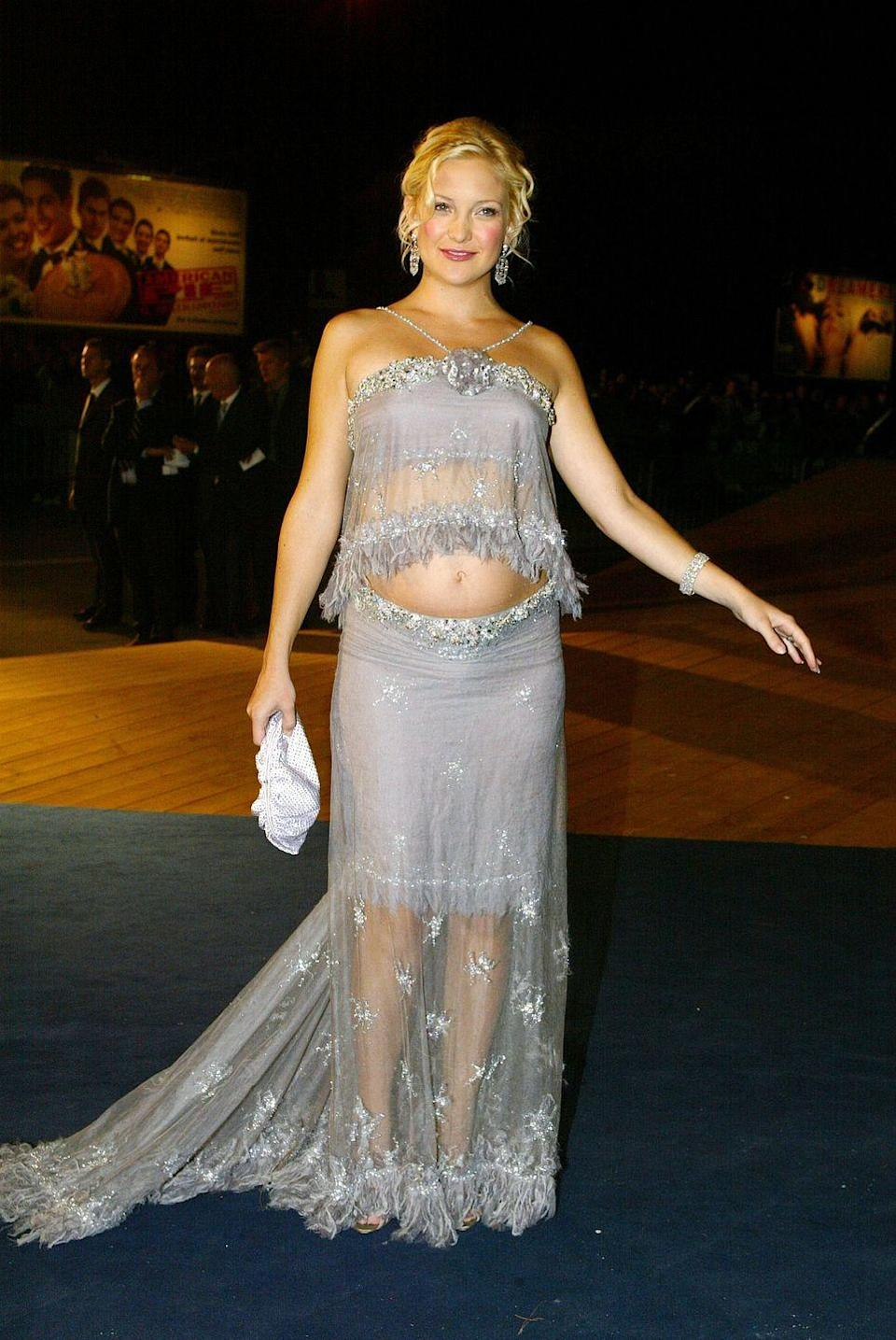 <p>Kate Hudson gave the crop top maternity trend a go while pregnant with her son Ryder.</p>
