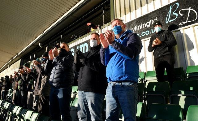 Plymouth are among only 10 clubs in the top four leagues to be allowed in fans