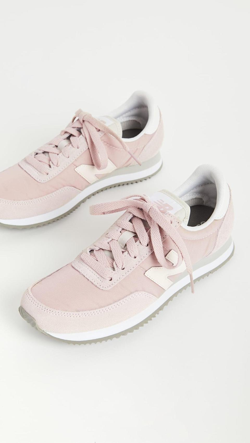 <p>These pink <span>New Balance 720 Lifestyle Sneakers</span> ($65) are so much fun.</p>