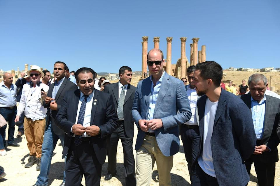 Visit: William's five-day tour is his most high-profile foreign trip and the first official visit to Israel and the Occupied Palestinian Territories by a member of the monarchy on behalf of the Government (PA)