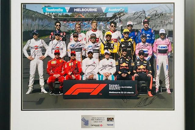 F1 charity 'Starcards' auction under way