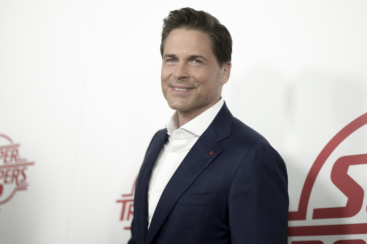 "Rob Lowe attends the LA Premiere of ""Super Troopers 2"" at ArcLight Hollywood on Tuesday, April 11, 2018, in Los Angeles. (Photo by Richard Shotwell/Invision/AP)"