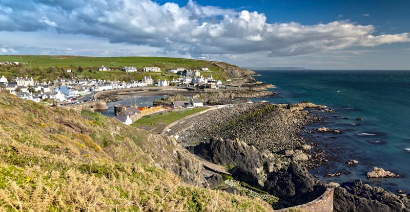 Portpatrick is a small Town on the Westcoast of Scotland and belongs to the Dumfries and Galloway Council Area