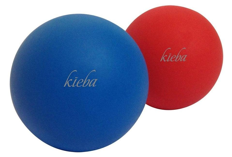 <p>If you have shoulder pain that never seems to go away, like I do, you need these <span>Kieba Massage Lacrosse Balls For Myofascial Release</span> ($11). I used them once in a Pilates class, and they got out a knot that must've been there for over a year. Now, I can't imagine life without them; think of it as a much more targeted foam roller.</p>