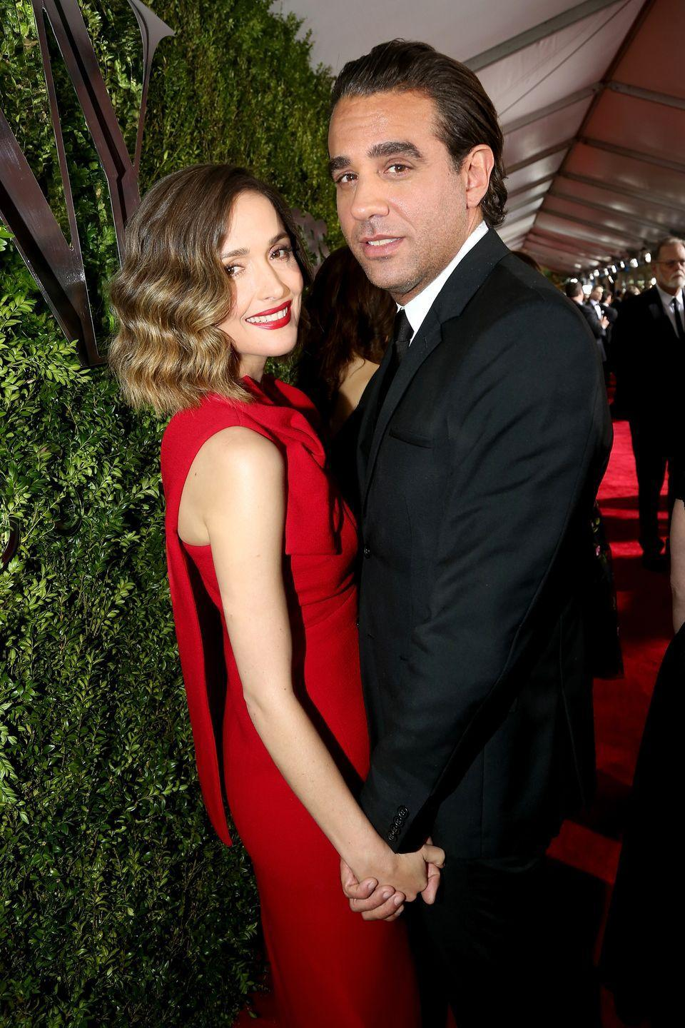 """<p><strong>How long they've been together: </strong>They met in 2012. When Cannavale accepted his Emmy in 2013 for his role in <em>Boardwalk Empire</em>, he included the sweetest shout out: """"And I want to thank the love of my life, Rose."""" *wipes tear*</p><p><strong>Why you forget they're together:</strong> Other than the occasional red carpet appearance, Byrne and Cannavale are usually only photographed together around their Brooklyn neighborhood.<br></p>"""