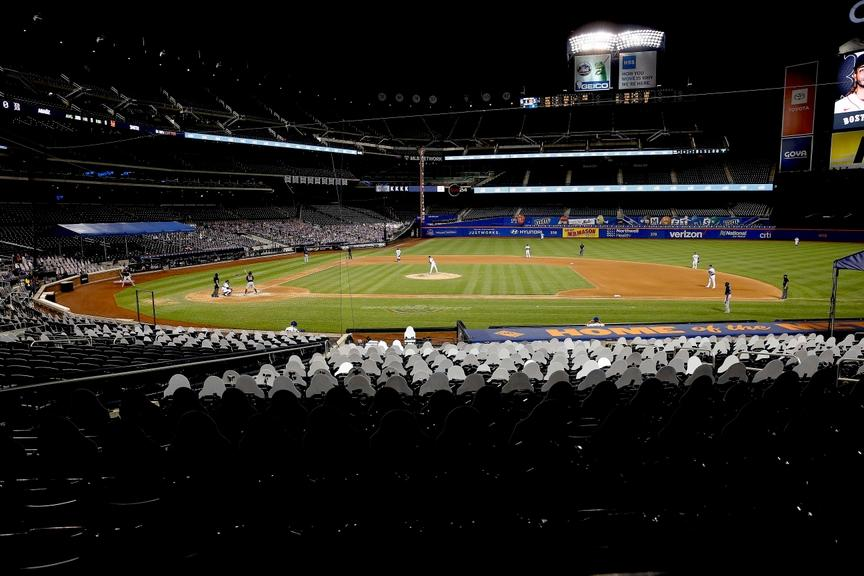 General view inside Citi Field with no fans in July of 2020