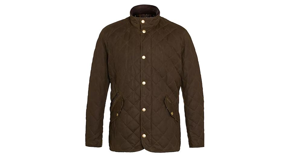 Barbour Waxed Quilted Funnel Neck Jacket