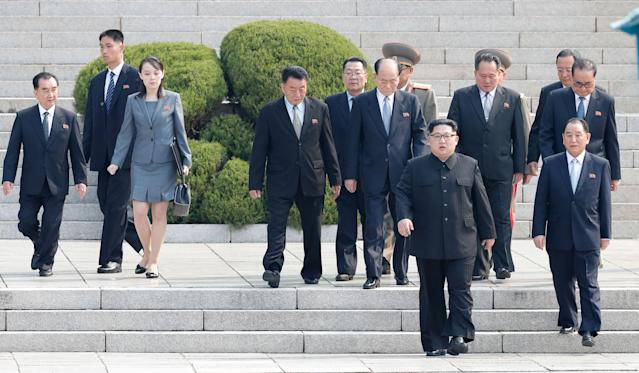North Korean leader Kim Jong Un's little sister, Kim Yo Jong, was the only woman to attend peace talks between the North and South. (Photo: Getty Images)