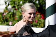<p>Dunst stunned in a black gown on Sept. 2 as she arrived for a screening of her film, <em>The Power of the Dog. </em></p>