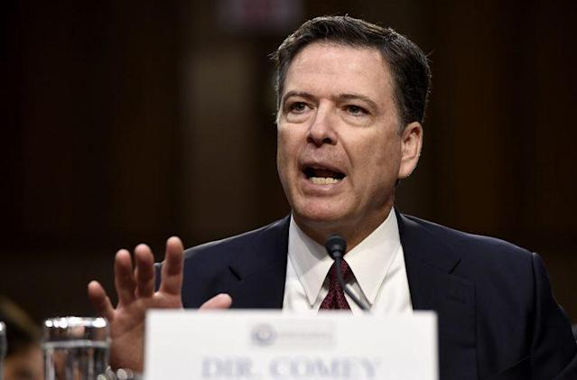 Former FBI Director James Comey testifies before the Senate intelligence committee on Thursday. (Photo: Saul Loeb/AFP/Getty Images)