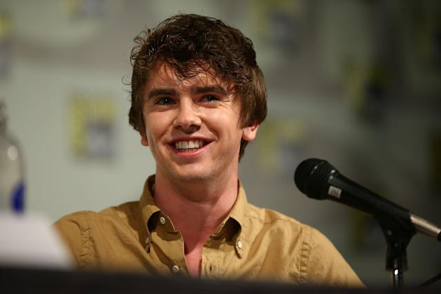 "Freddy Highmore attends the ""Bates Motel"" panel at Comic-Con International 2013 - Day 3 on July 20, 2013 in San Diego, California."