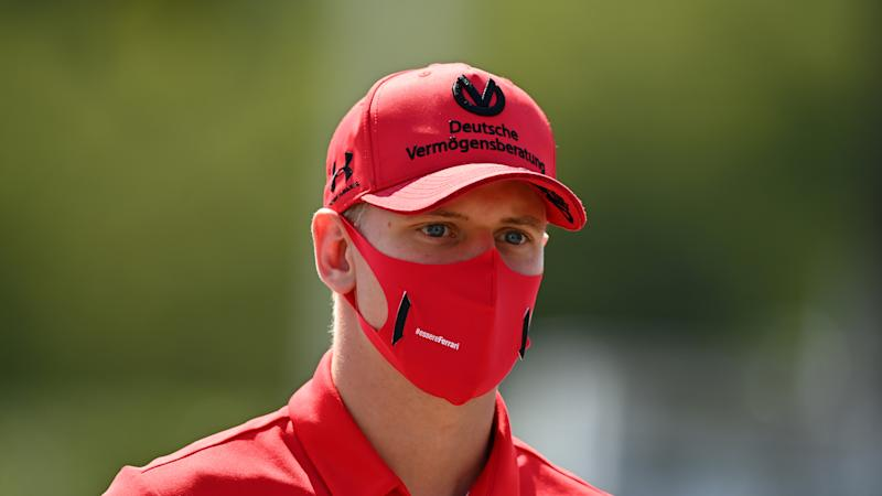 MONZA, ITALY - SEPTEMBER 03: Mick Schumacher of Germany and Prema Racing walks in the Paddock during previews ahead of the Formula 2 Championship at Autodromo di Monza on September 03, 2020 in Monza, Italy. (Photo by Clive Mason - Formula 1/Formula 1 via Getty Images)