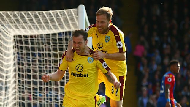 Ashley Barnes and Andre Gray gave Burnley a 2-0 victory at Crystal Palace, earning their first away Premier League win of the season.