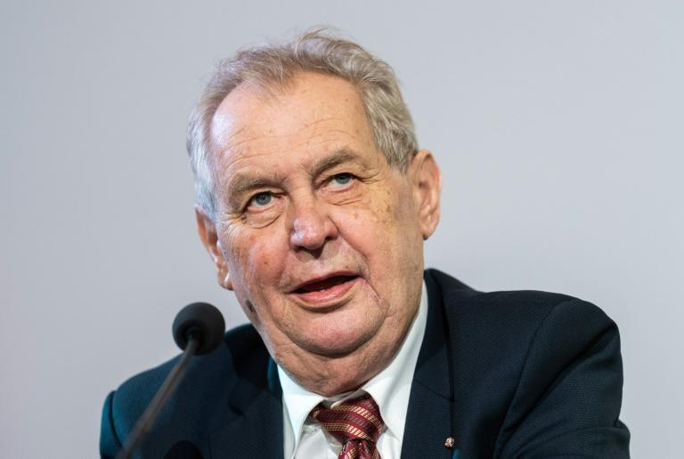 Doctors have declined to say exactly what is wrong with President Milos Zeman (AFP/GEORG HOCHMUTH)