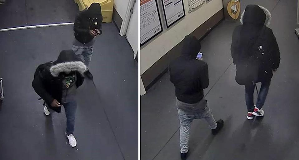 Police released these CCTV images of two suspects after the attack (Picture: PA)