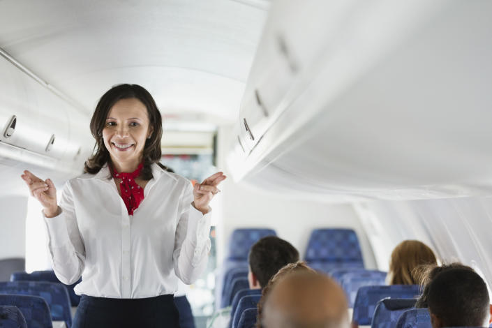 The couple claimed that the English-language boarding announcement for their flight was more thorough than the French version. (Stock image)