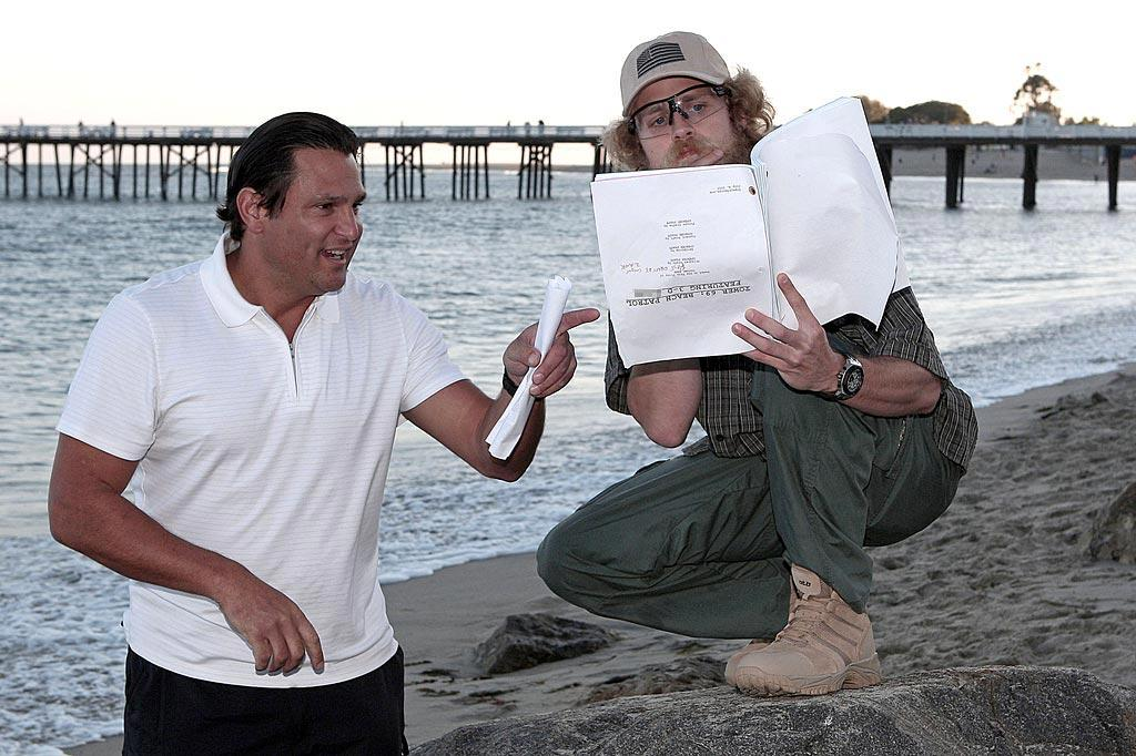 """Note to Spencer: When you're pretending to read a script for a staged photo shoot, make sure it's at least not upside down! Gaz Shirley/<a href=""""http://www. PacificCoastNews.com"""" target=""""new"""">PacificCoastNews.com</a> - August 10, 2010"""