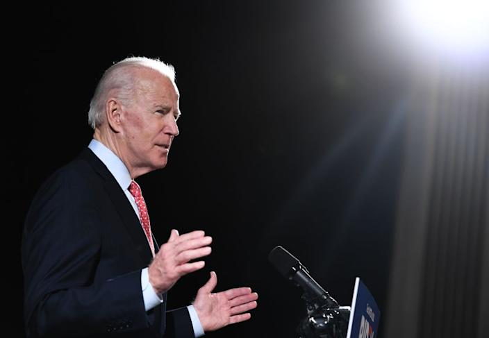 "Former U.S. Vice President and Democratic presidential hopeful Joe Biden. <span class=""copyright"">(AFP via Getty Images)</span>"
