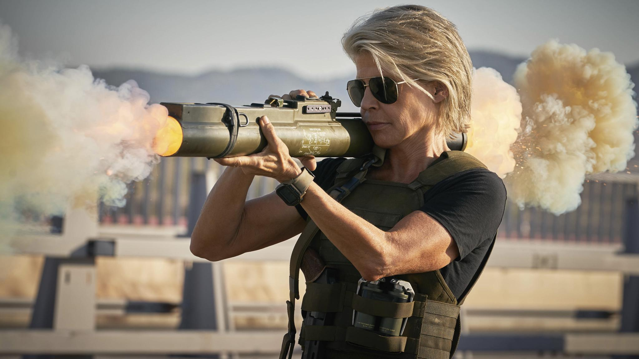 Linda Hamilton as Sarah Connor (Credit: 20th Century Fox)