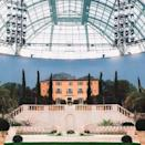 <p>For Lagerfeld's penultimate show with Chanel he envisioned the Grand Palais as 'Villa Chanel'. For the set a terracotta villa stood over an 18th Century garden.</p>
