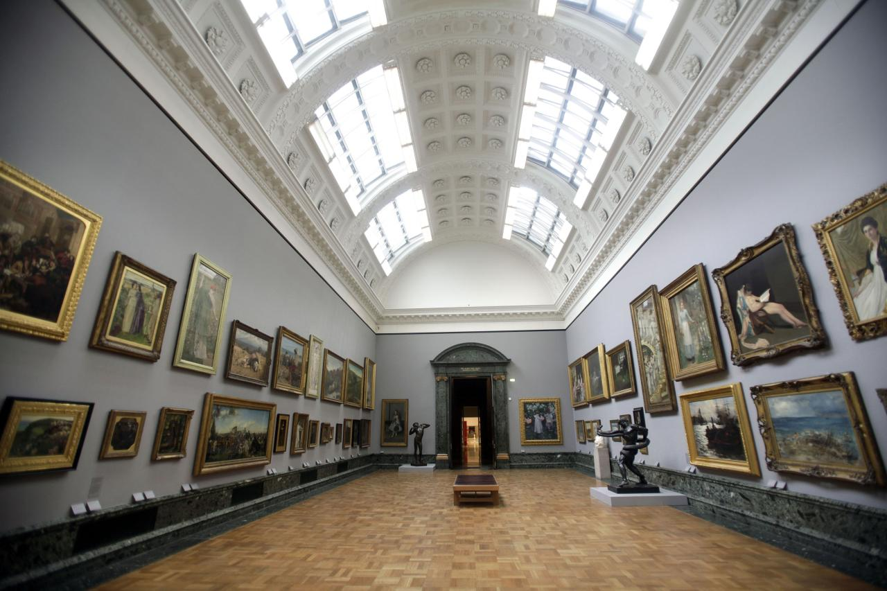 LONDON, UNITED KINGDOM - MAY 13: A general view of artwork on display at the Walk through British Art   exhibition at Tate Britain on May 13, 2013 in London, England. Visitors will experience a completely new presentation of the world's greatest collection of British art, the national collection of British art will be displayed in a continuous and purely chronological display from the 1500s to the present day. (Photo by Warrick Page/Getty Images)