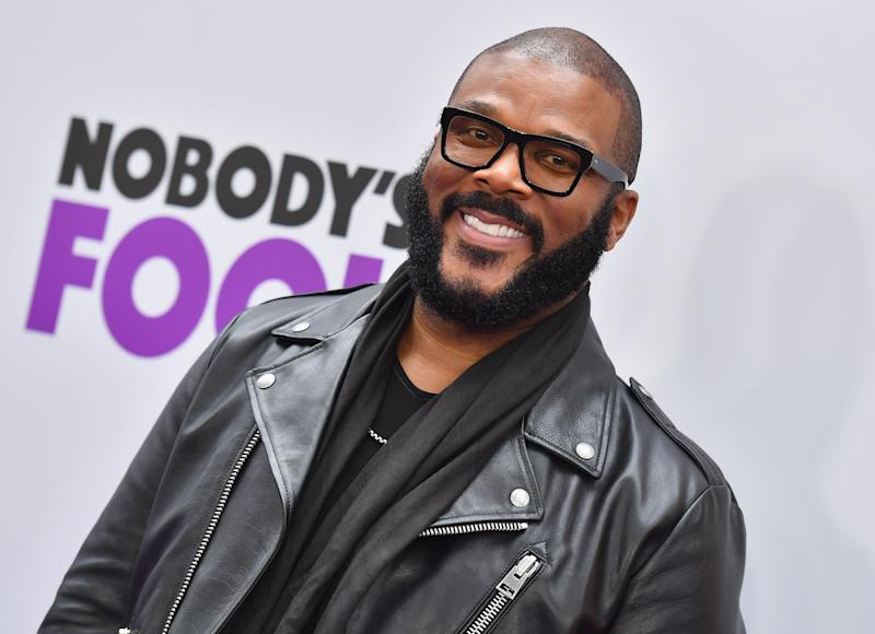 Tyler Perry attends the New York premiere of Nobody's Fool in New York City. More