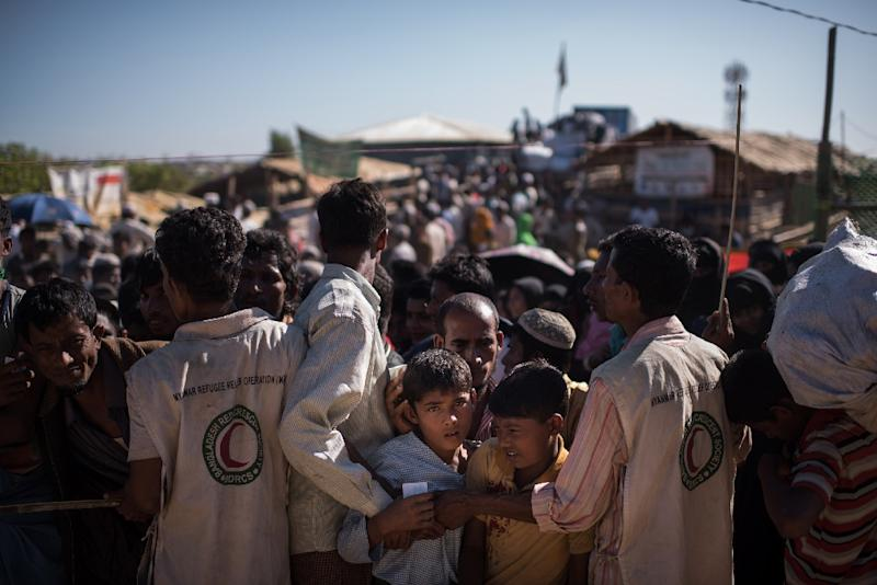 Rohingya Muslim refugees in Bangladesh have given accounts of mass murder, rape and torture (AFP Photo/Ed JONES)