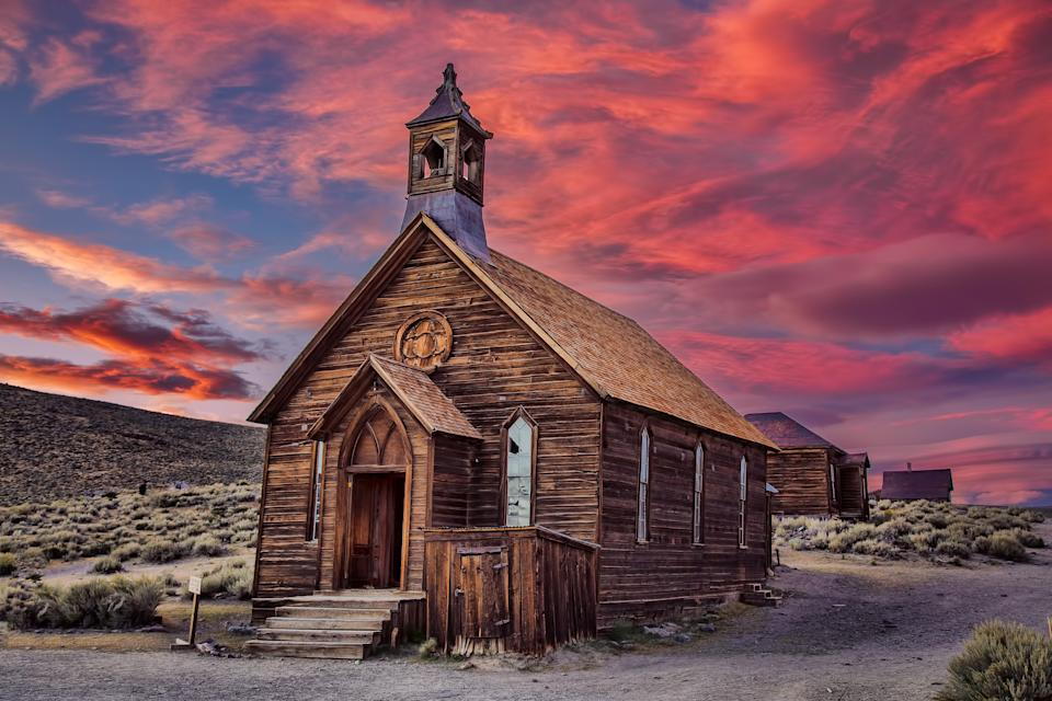 Take in an incredible sunset at the Ghost Town in XX. (Getty Images)